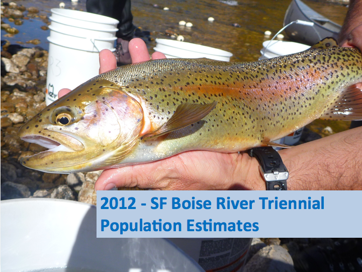 Fishery population status i 2012 the latest sampling for Idaho fish and game phone number